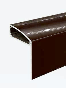 3m x 10mm, Brown Aluminium F Side Trim Profile in Mill Brown /& White 6,10,16,25mm Glass or Poly